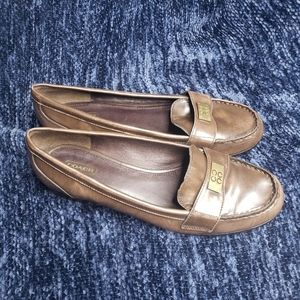 Coach Hollee brown slip on leather loafers size 10